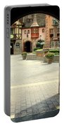 Arched Doorway With A Bavarian View Portable Battery Charger