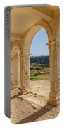 Arches And Stairs Of Derelict Agios Georgios Church Portable Battery Charger