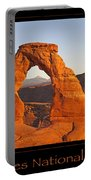 Arches National Park Poster Portable Battery Charger