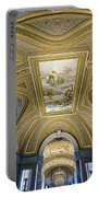 Architectural Artistry Within The Vatican Museum In The Vatican City Portable Battery Charger