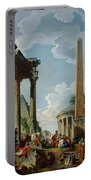 Architectural Capriccio With A Preacher In The Ruins Portable Battery Charger
