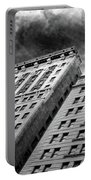 Architecture Tall Buildings Bw Nyc  Portable Battery Charger