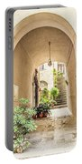 Archway And Stairs In Italy Portable Battery Charger