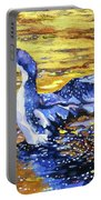 Arctic Loon On Golden Pond Portable Battery Charger