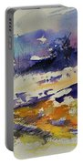 Ardennes Landscape Watercolor Portable Battery Charger