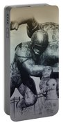 Are You Ready For Some Football Portable Battery Charger by Bill Cannon