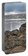 Area By Godafoss Waterfalls, Iceland Portable Battery Charger