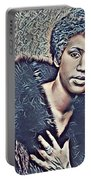 Aretha Franklin Abstract Art Portable Battery Charger
