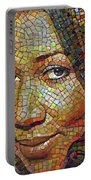Aretha Franklin Tribute Mosaic Portrait 2 Portable Battery Charger