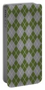 Argyle Diamond With Crisscross Lines In Paris Gray T09-p0126 Portable Battery Charger