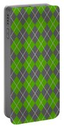 Argyle Diamond With Crisscross Lines In Pewter Gray N09-p0126 Portable Battery Charger