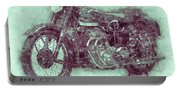 Ariel Square Four 3 - 1931 - Vintage Motorcycle Poster - Automotive Art Portable Battery Charger