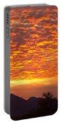Arizona November Sunrise With Saguaro   Portable Battery Charger