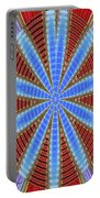 Arizona Saguaro Forest Abstract #2 Portable Battery Charger