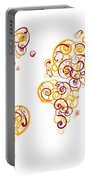 Arizona State University Colors Swirl Map Of The World Atlas Portable Battery Charger