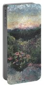Arkansas Mountain Sunset Portable Battery Charger by Nadine Rippelmeyer