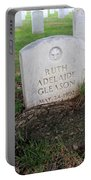 Arlington Tombstone Lodged In Tree Trunk Portable Battery Charger
