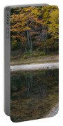 Around The Bend- Hiking Walden Pond In Autumn Portable Battery Charger
