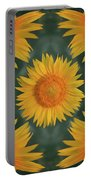 Around The Sunflower Portable Battery Charger