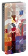 Arraygraphy - Sunset Inferno Triptych Part 3 Portable Battery Charger