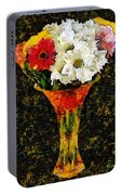 Arrangement In Confetti And Black Portable Battery Charger