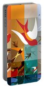 Arraygraphy - Birdies Triptych Part2 Portable Battery Charger