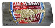 Arsenal Football Team Emblem Recycled Vintage Colorful License Plate Art Portable Battery Charger