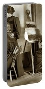 Art Class Oil Painting Teacher  And Art Students 1900 Portable Battery Charger