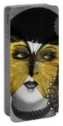 Art Deco Butterfly Woman Portable Battery Charger