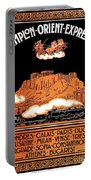 Art Deco Orient Express Advertising Athens Portable Battery Charger