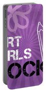 Art Girls Rock Portable Battery Charger