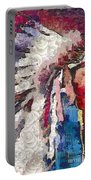 Art Indian Chief Pearlesques In Fragments  Portable Battery Charger