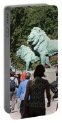 Art Institute Of Chicago Bronze Lions Portable Battery Charger