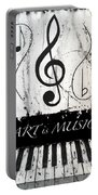 Art Is Music-music In Motion Portable Battery Charger