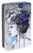 Art Nouveau Girl 1 Portable Battery Charger