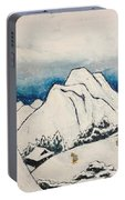 Art Of Japan And The Two Paths Of Shintoism And Buddhism - Holy Men In The Snow Without Abraham Portable Battery Charger
