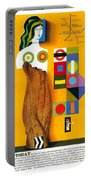 Art Today - London Underground, London Metro - Retro Travel Poster - Vintage Poster Portable Battery Charger