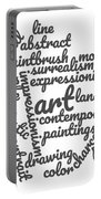 Art Word Cloud 1 Portable Battery Charger