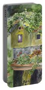 Artful Birdhouse Portable Battery Charger