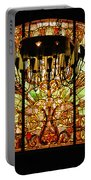 Artful Stained Glass Window Union Station Hotel Nashville Portable Battery Charger by Susanne Van Hulst