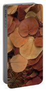 Artfully Scattered Sea Grape Leaves Portable Battery Charger