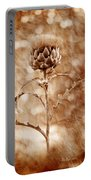 Artichoke Bloom Portable Battery Charger by La Rae  Roberts