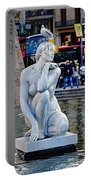 Artistic Statue That Has Gone To The Birds In Barcelona Portable Battery Charger