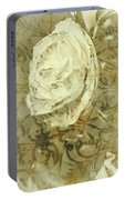 Artistic Vintage Floral Art With Double Overlay Portable Battery Charger