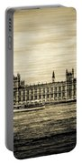 Artistic Vision Of Elizabeth Tower Big Ben And Westminster Portable Battery Charger