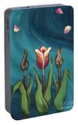 Artists In Bloom Portable Battery Charger by Brandy Woods