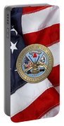 U. S. Army Seal Over American Flag. Portable Battery Charger