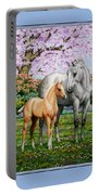Spring's Gift - Mare And Foal Portable Battery Charger by Crista Forest
