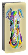 Greyhound Portable Battery Charger by Eloise Schneider