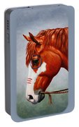 Native American War Horse Portable Battery Charger by Crista Forest